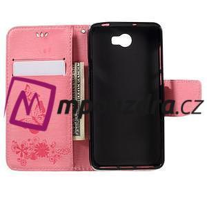 Butterfly PU kožené pouzdro na mobil Huawei Y5 II - růžové - 6