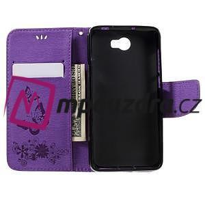 Butterfly PU kožené pouzdro na mobil Huawei Y5 II - fialové - 6