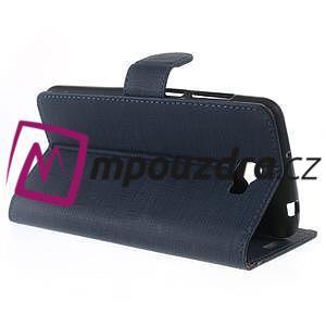Clothy peněženkové pouzdro na Huawei Y5 II - tmavěmodré - 6