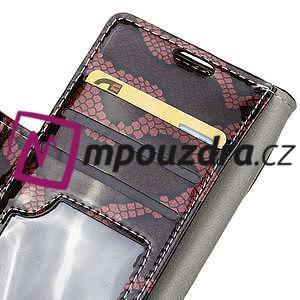 Pouzdro s hadím motivem na mobil Huawei Y5 II - červené - 6