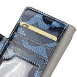 Pouzdro s hadím motivem na mobil Huawei Y5 II - modré - 6/7