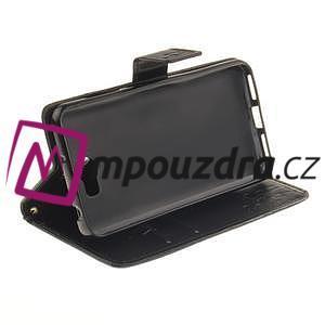 Dandelion PU kožené pouzdro na Huawei Y5 II - černé - 6