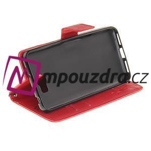 Dandelion PU kožené pouzdro na Huawei Y5 II - červené - 6