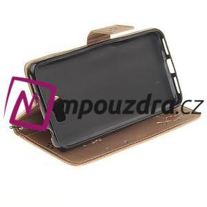 Dandelion PU kožené pouzdro na Huawei Y5 II - zlaté - 6