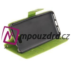 Dandelion PU kožené pouzdro na Huawei Y5 II - zelené - 6