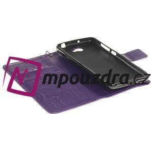 Dandelion PU kožené pouzdro na Huawei Y5 II - fialové - 6