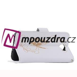 Motýlí peněženkové pouzdro na Huawei Y5 II - bílé - 6
