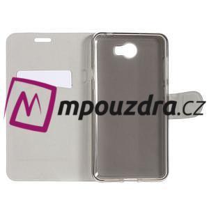 Horse PU kožené pouzdro na mobil Huawei Y5 II - hnědé - 6