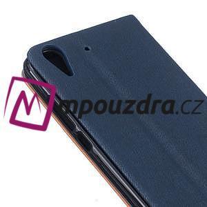 Klopové pouzdro na mobil Huawei Y6 II a Honor 5A - tmavěmodré - 6
