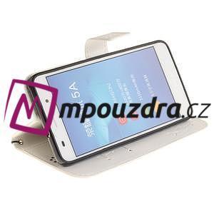 Dandelion PU kožené pouzdro na Huawei Y6 II a Honor 5A - bílé - 6