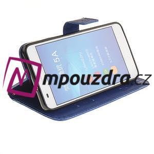 Dandelion PU kožené pouzdro na Huawei Y6 II a Honor 5A - modré - 6