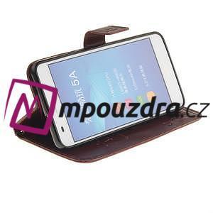 Dandelion PU kožené pouzdro na Huawei Y6 II a Honor 5A - hnědé - 6