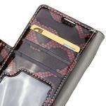 Peněženkové pouzdro s hadím motivem na Huawei Y6 II Compact - červené - 6/7