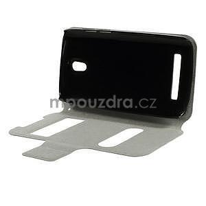 Flipové PU kožené pouzdro na HTC Desire 500 - růžové - 6