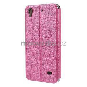 Pouzdro s okýnky na Huawei Ascend G620s - růžové - 6