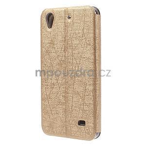 Pouzdro s okýnky na Huawei Ascend G620s - zlaté - 6