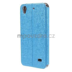 Pouzdro s okýnky na Huawei Ascend G620s - světle modré - 6