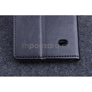 Černé PU kožené peněženkové pouzdro na Huawei Ascend G620s - 6
