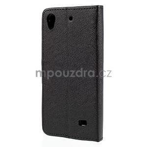 Peněženkové pouzdro na Huawei Ascend G620s - černé - 6