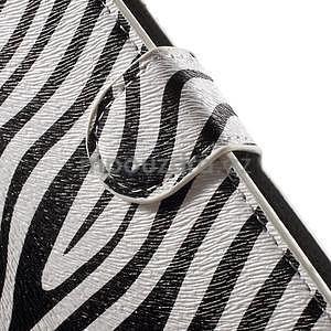 Pěněženkové pouzdro na LG G4c H525n - zebra - 6