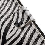 Pěněženkové pouzdro na LG G4c H525n - zebra - 6/7