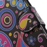 Pěněženkové pouzdro na LG G4c H525n - barevné kruhy - 6/7