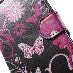 Pěněženkové pouzdro na LG G4c H525n - motýlci - 6