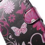 Pěněženkové pouzdro na LG G4c H525n - motýlci - 6/7