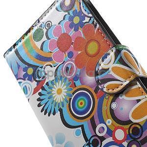 Pěněženkové pouzdro na LG G4c H525n - barevné květiny - 6