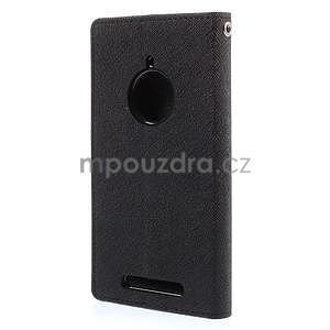PU kožené peněženkové pouzdro na Nokia Lumia 830 - černé - 6