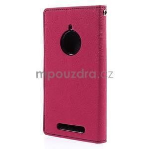 PU kožené peněženkové pouzdro na Nokia Lumia 830 - rose - 6
