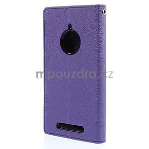 PU kožené peněženkové pouzdro na Nokia Lumia 830 - fialové - 6