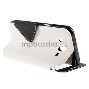 PU kožené pouzdro s okýnkem pro Samsung Galaxy J5 - bílé - 6