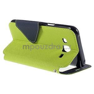PU kožené pouzdro s okýnkem pro Samsung Galaxy J5 - zelené - 6
