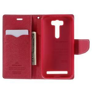 Diary stylové pouzdro na Asus Zenfone 2 Laser - růžové - 6