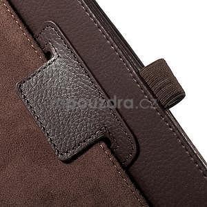 Safety koženkové pouzdro na Asus ZenPad C 7.0 Z170MG - hnědé - 6