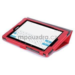 Polohovatelné koženkové pouzdro na tablet Asus ZenPad S 8.0 - červené - 6