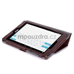 Polohovatelné koženkové pouzdro na tablet Asus ZenPad S 8.0 - hnědé - 6