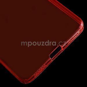Transparentní gelový obal na telefon Honor 7 - červený - 6