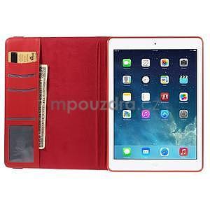 Circ otočné pouzdro na Apple iPad Air - červené - 6