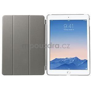Trifold polohovatelné pouzdro na iPad Air 2 - šedé - 6