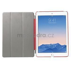 Trifold polohovatelné pouzdro na iPad Air 2 - červené - 6