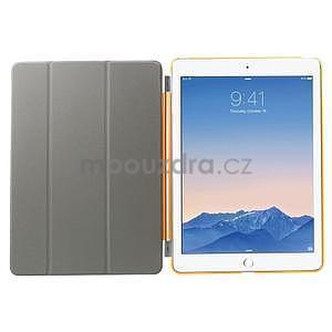 Trifold polohovatelné pouzdro na iPad Air 2 - oranžové - 6