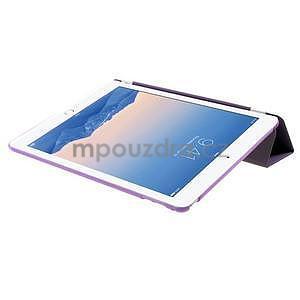 Trifold polohovatelné pouzdro na iPad Air 2 - fialové - 6