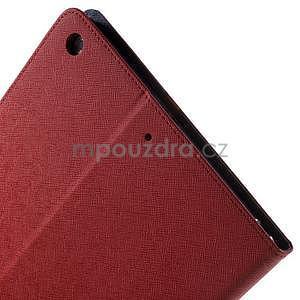 Diary peněženkové pouzdro na iPad Air - červené - 6