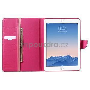 Diary peněženkové pouzdro na iPad Air - růžové - 6