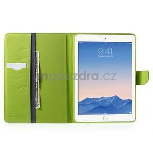 Diary peněženkové pouzdro na iPad Air - tmavěmodré - 6
