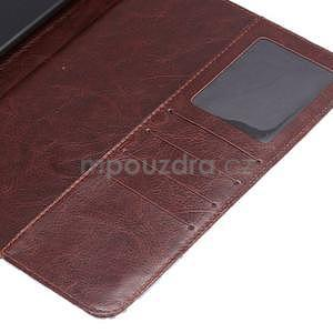 Cloth luxusní pouzdro na Ipad Mini 3, Ipad Mini 2 a Ipad Mini - coffee - 6