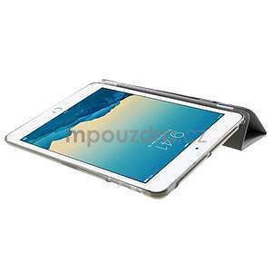 Classic tří polohové pouzdro na iPad Mini 3, ipad Mini 2 a na iPad Mini - šedé - 6