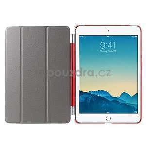 Classic tří polohové pouzdro na iPad Mini 3, ipad Mini 2 a na iPad Mini - červené - 6